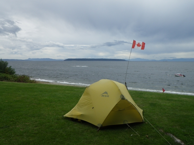 tent in high wind