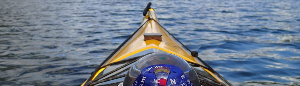 kayak deck compass with sail reflection