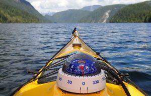 kayak deck compass with sail reflection