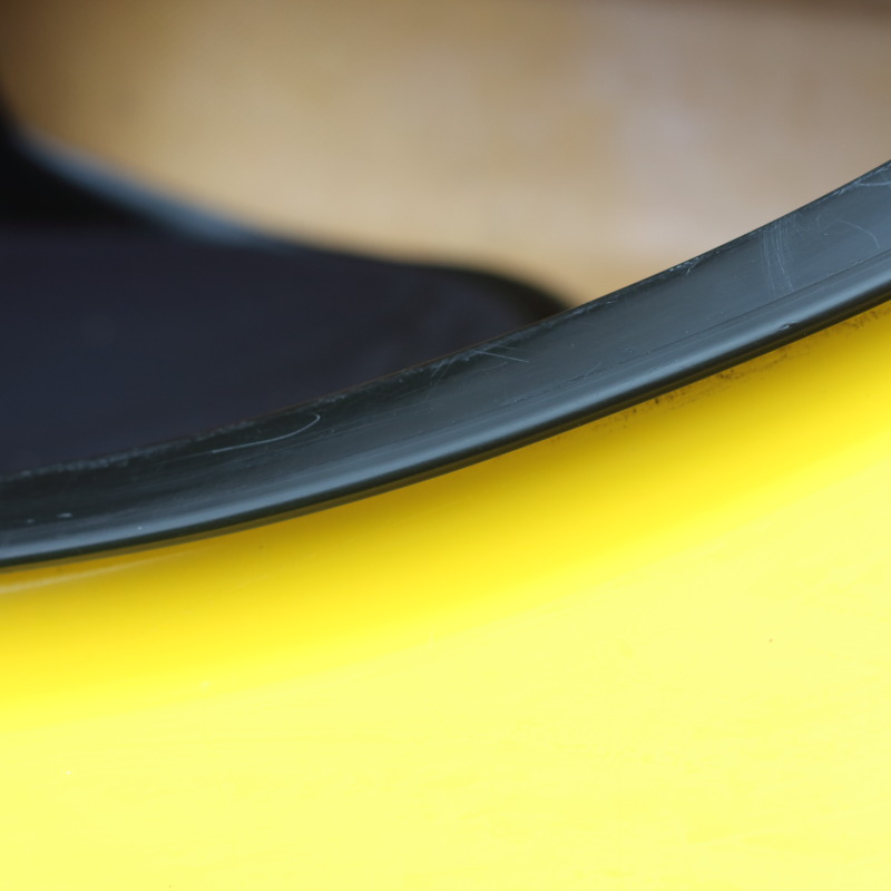 a kayak coaming protected with edge trim