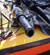 the broken ferrule on the outrigger arm