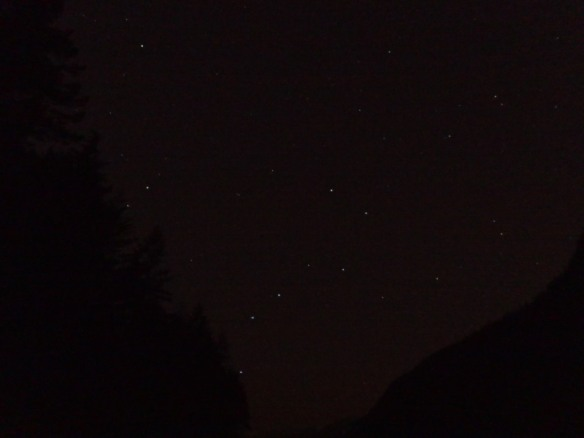 The Big Dipper pointing to Polaris
