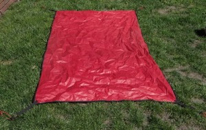 a home made tent footprint