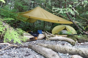 tarp and tent
