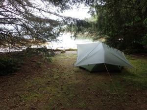 a tent under a tarp