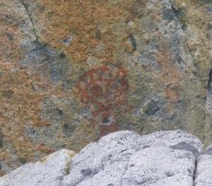 a petrogylph (rock painting)