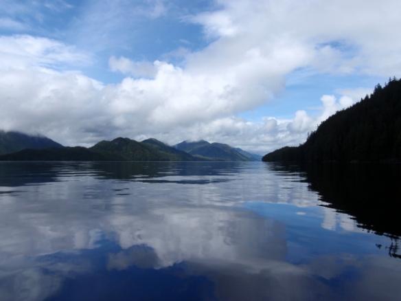 a view towards Sarah Island, British Columbia