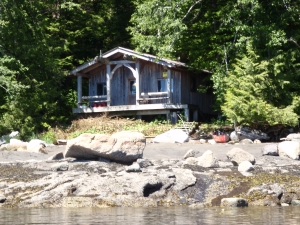 The cabin at Cockle Bay, British Columbia