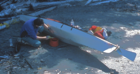 repairing my sea kayak