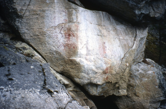 petroglyphs on Slocan Lake, BC