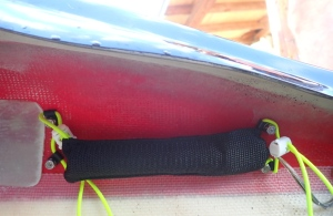 the magnetic reed switch on the inside of the hull