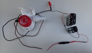 pump battery system, out of its box
