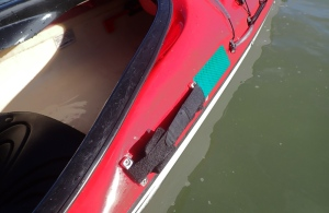 the sliding actuator magnetic on the outside of the kayak